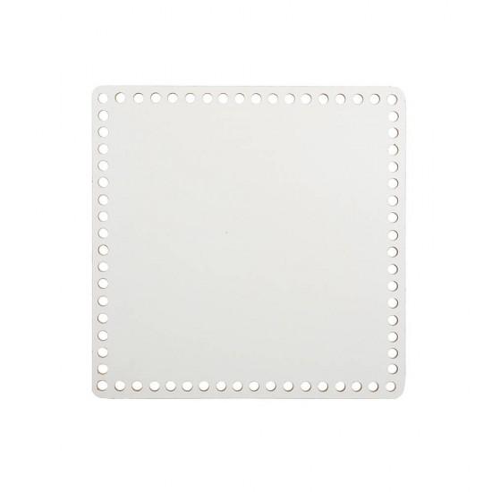 15cm Beyaz Ahşap Kare Sepet Tabanı