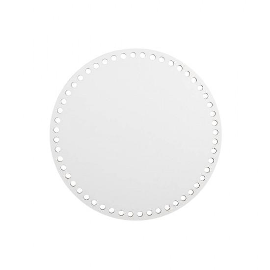 15cm Beyaz Ahşap Yuvarlak Sepet Tabanı