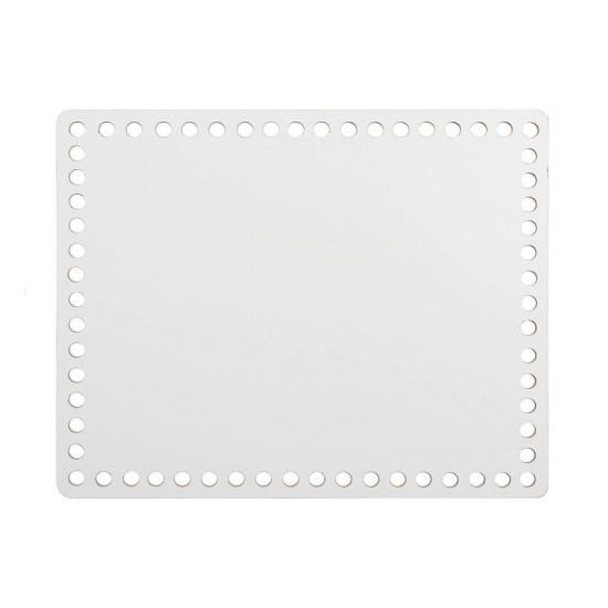 17cm Beyaz Ahşap Dikdörtgen Sepet Tabanı