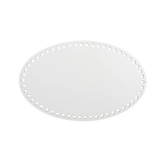18cm Beyaz Ahşap Oval Sepet Tabanı