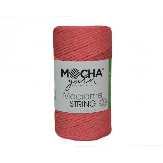 2 mm Koyu Pembe Makrome String İp