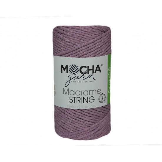 2 mm Lila Makrome String İp
