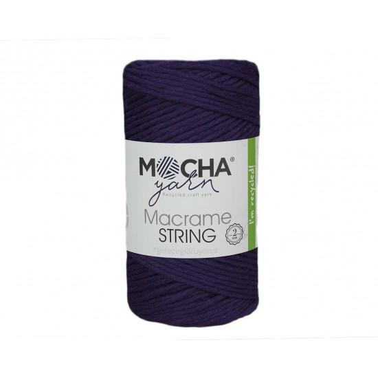 2 mm Mürdüm Makrome String İp