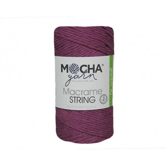 2 mm Mor Makrome String İp