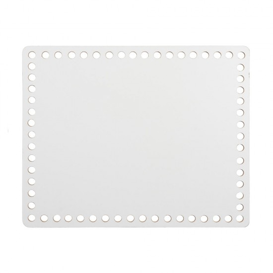 20cm Beyaz Ahşap Dikdörtgen Sepet Tabanı