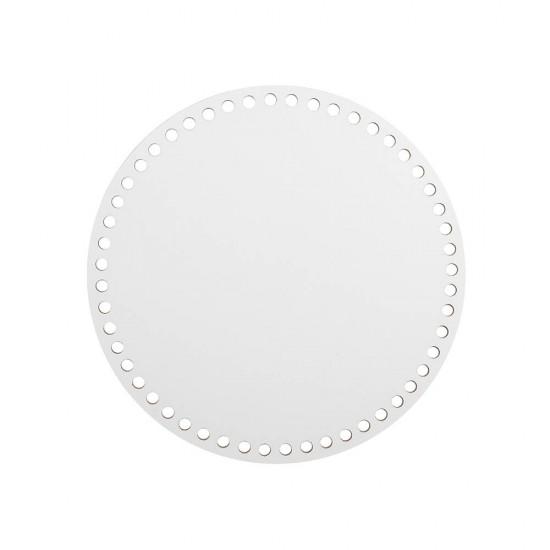 20cm Beyaz Ahşap Yuvarlak Sepet Tabanı