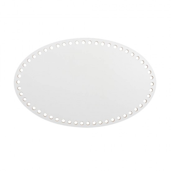 22cm Beyaz Ahşap Oval Sepet Tabanı