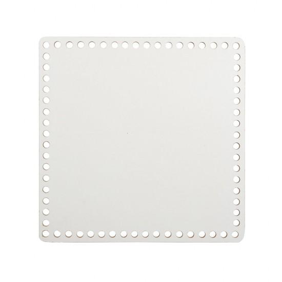 25cm Beyaz Ahşap Kare Sepet Tabanı