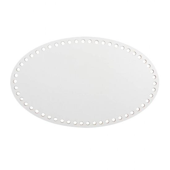 25cm Beyaz Ahşap Oval Sepet Tabanı