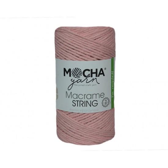 2mm Açık Pembe Makrome String