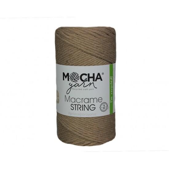 2mm Bej Makrome String İp