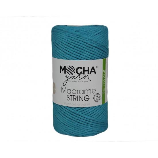 2mm Turkuaz Makrome String İp