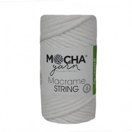 4 mm Beyaz Makrome String