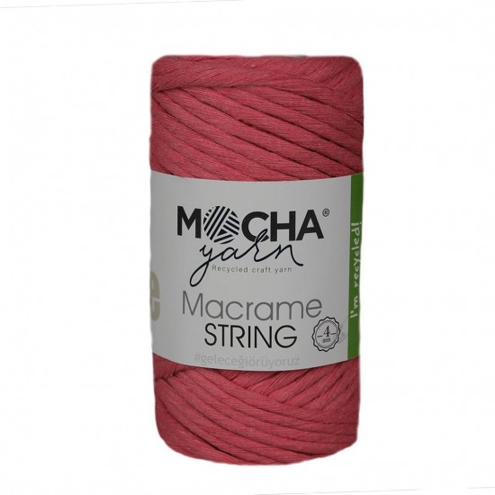 4 mm Fuşya Makrome String İp
