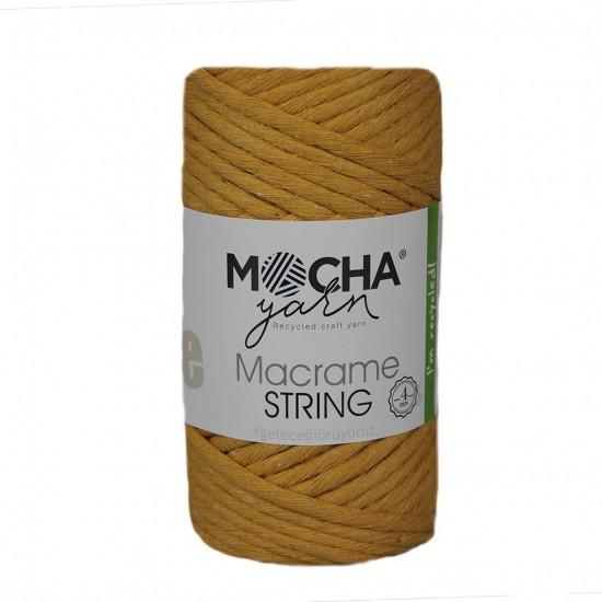 4 mm Hardal Makrome String İp