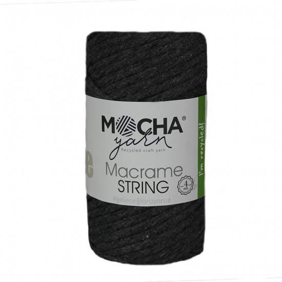 4 mm Koyu Gri Makrome String İp
