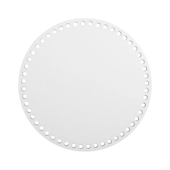 40cm Beyaz Ahşap Yuvarlak Sepet Tabanı