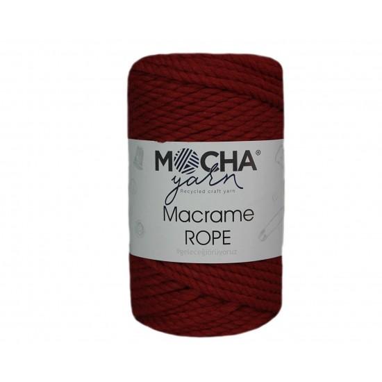 4mm Bordo Makrome Rope İp