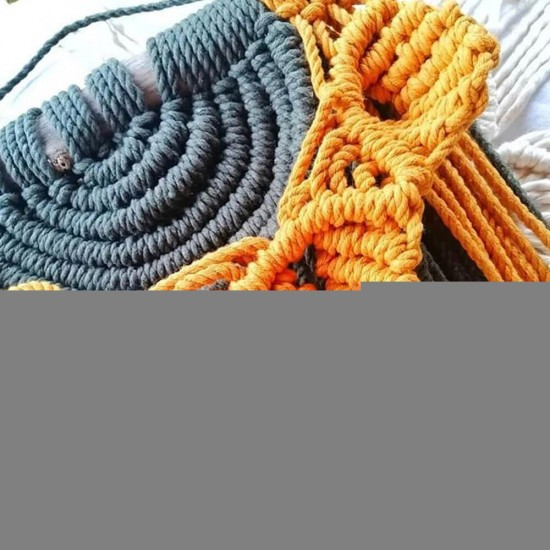 4mm Hardal Makrome Rope İp