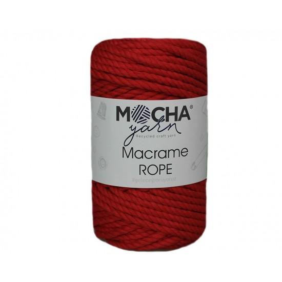 4mm Kırmızı Makrome Rope İp