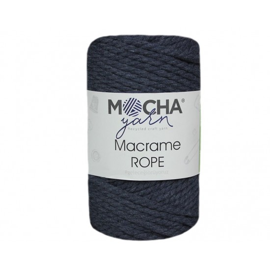 4mm Koyu İndigo Makrome Rope İp