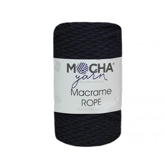 4mm Koyu Lacivert Makrome Rope İplik