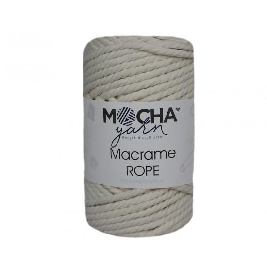 4mm Krem Makrome Rope İp