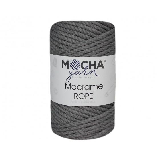4mm Orta Gri Makrome Rope İp