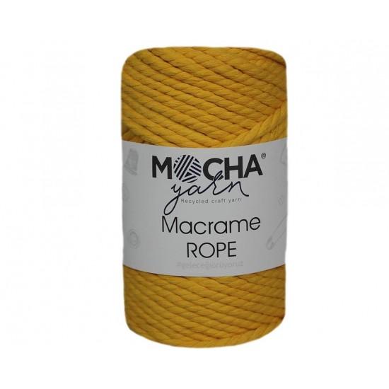4mm Sarı Makrome Rope İp