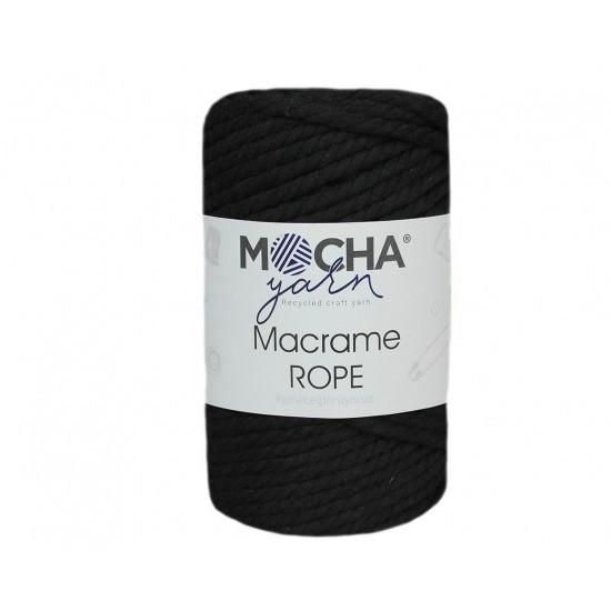4mm Siyah Makrome Rope İp