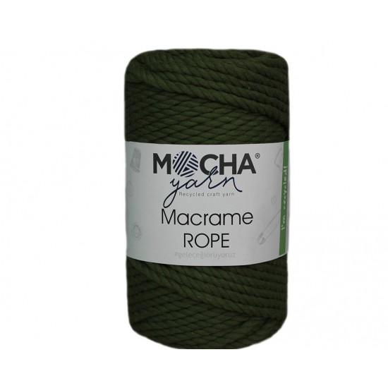 4mm Yağ Yeşili Makrome Rope İp
