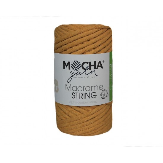 5mm Hardal Makrome String İp