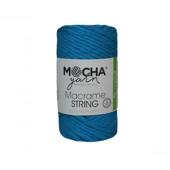 5mm Turkuaz Makrome String İp