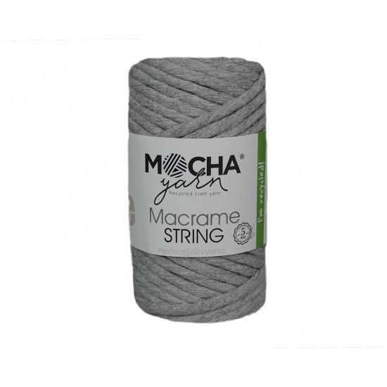 5mm Açık Gri Makrome String İp