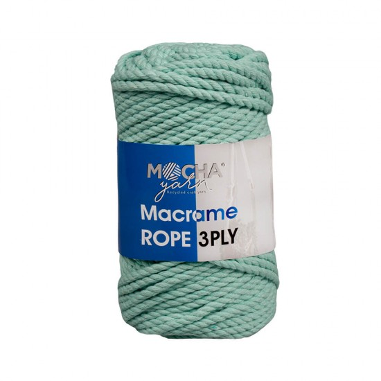 Açık Mint Makrome Rope İp