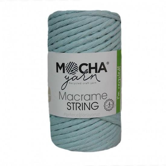 4mm Açık Mint Makrome String İp
