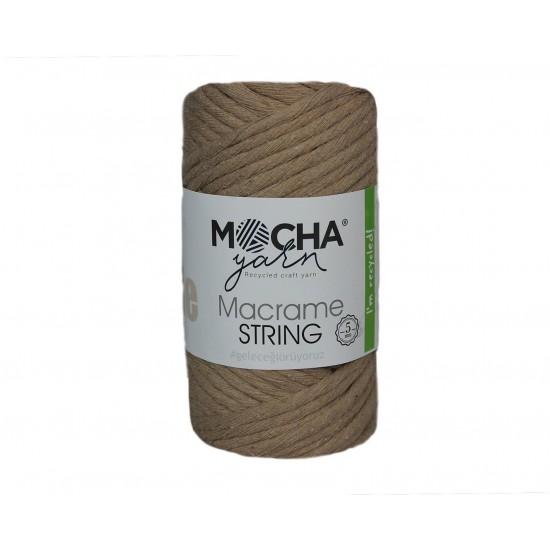 5mm Bej Makrome String İp