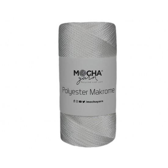 Beyaz 3mm Polyester Makrome İp