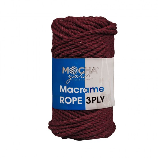 Bordo Makrome Rope İp