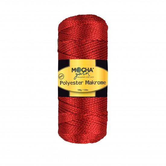 Kırmızı Polyester Makrome İp