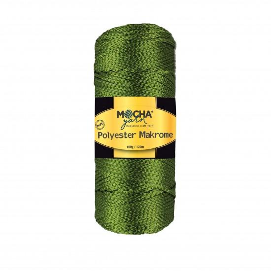 Bronz Yeşil Polyester Makrome İp