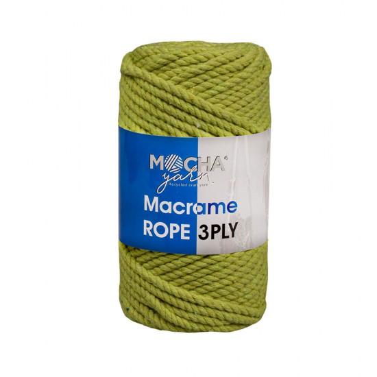Fıstık Yeşili Makrome Rope İp