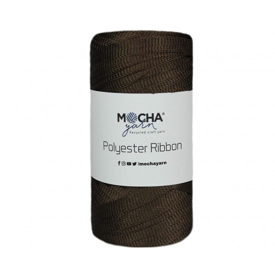 Kahve Polyester Ribbon İp