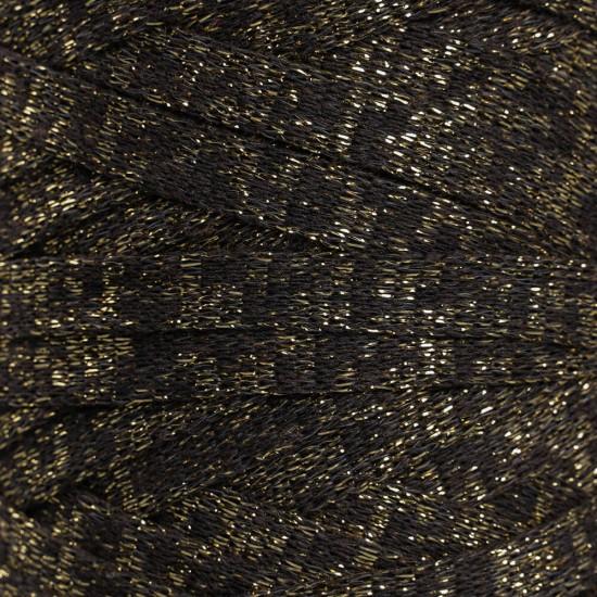 Kahverengi Altın Simli Ribbon İp