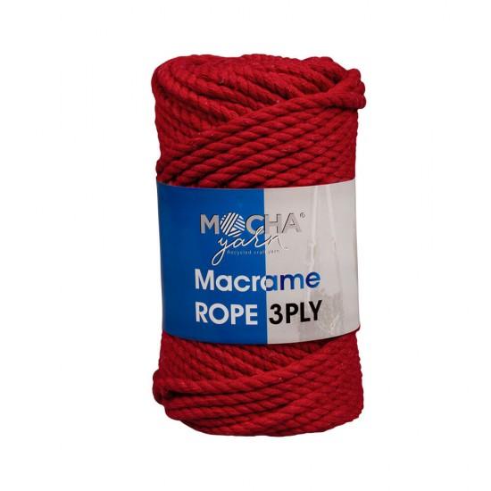 Kırmızı Makrome Rope İp