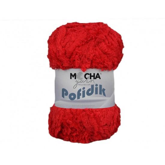 Kırmızı Soft Polyester Makrome İp