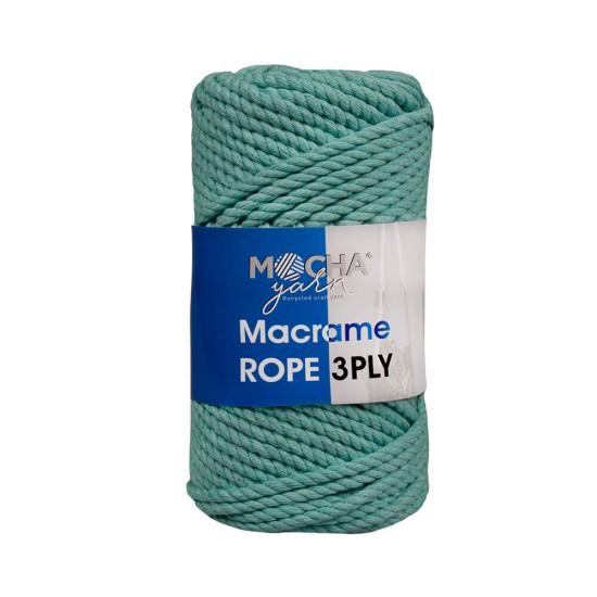 Koyu Mint Makrome Rope İp