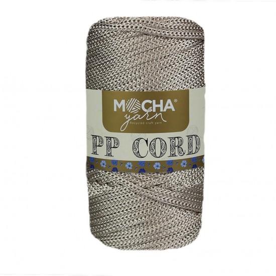 Metalik Bej Polyester Cord İp