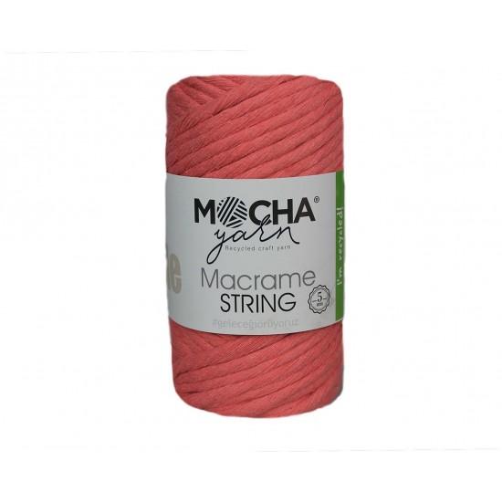 5mm Pembe Makrome String İp