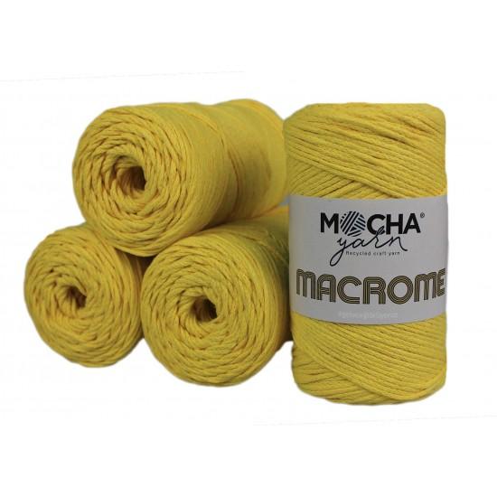 Sarı Makrome 4'lü Set
